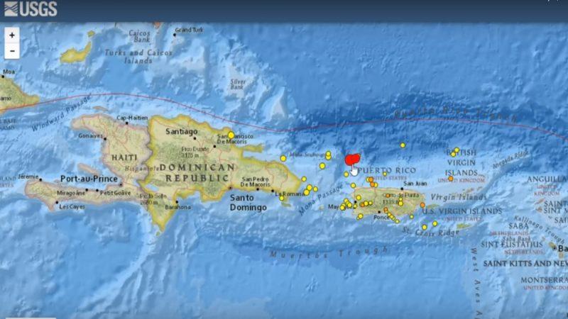波多黎各发生6.3强震 尚未传出伤亡灾损