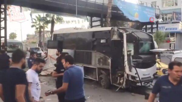 土耳其警察巴士被炸 5人受傷(視頻)
