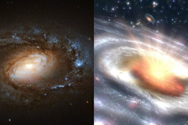 平靜星系突然爆發變成類星體 原因不明