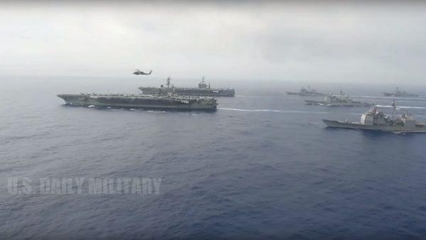 美国第七舰队主导 首与东盟海上联合军演
