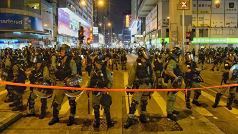 组图:香港9.7反送中 警察恐怖大抓捕
