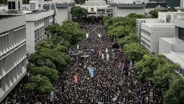 """林郑破""""死线""""香港13所大学行动升级"""