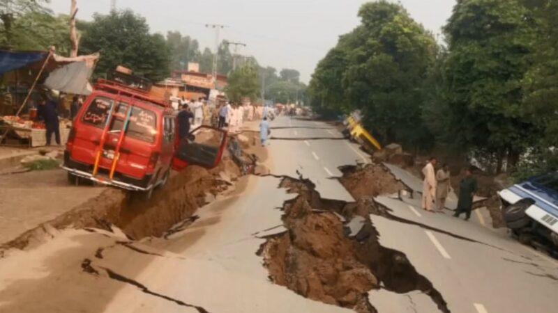 巴基斯坦浅层强震 地裂楼毁至少22死300伤(视频)