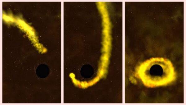 宇宙奇景!黑洞猛烈撕碎恆星成粉末(視頻)