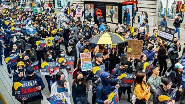 中共70週年遭空前反共潮 全球「撐港反極權」