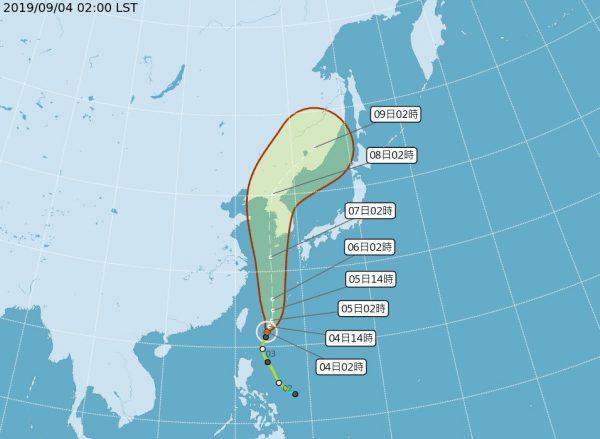 台风玲玲北上渐增强 南台湾注意大雨