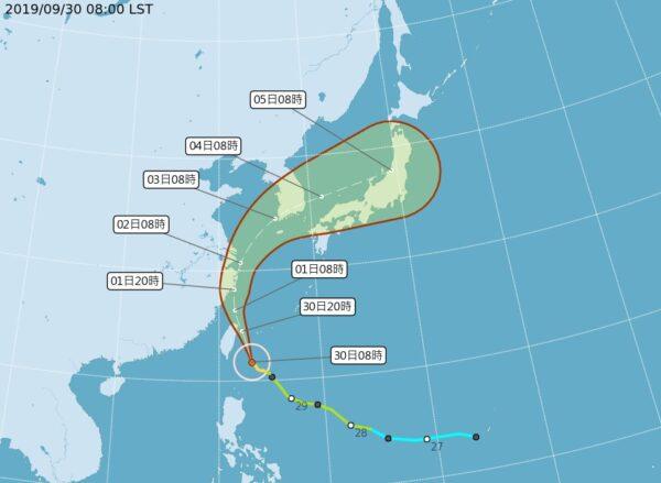 台风米塔下半天近陆地 台湾中部以北风力增强