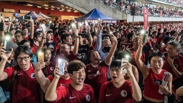 反送中延燒世預賽 球迷狂噓中共國歌(組圖)