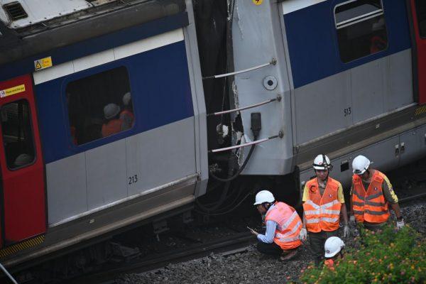 港鐵列車出軌 涉事路軌現約1至2公釐寬裂紋