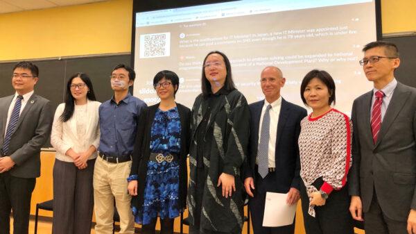 台灣數位部長唐鳳暢談以黑客文化落實永續發展目標