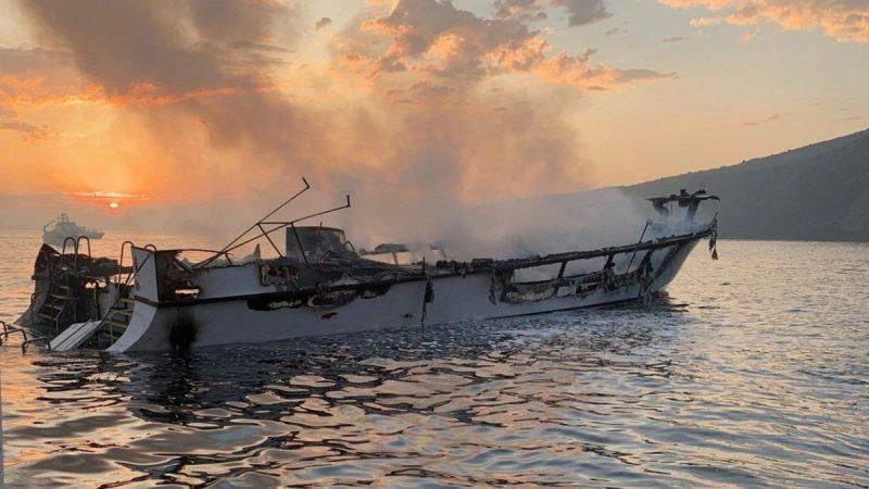 """南加州潜水船大火25死 船长SOS求救""""我不能呼吸"""""""