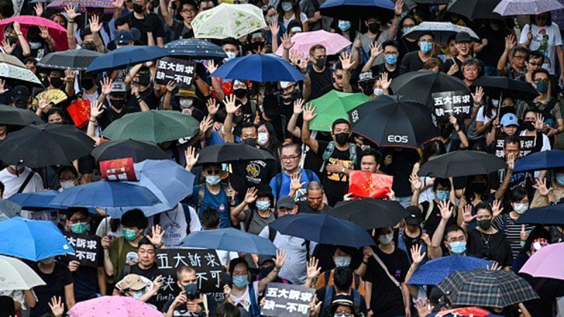 """组图1:915香港""""全民抗暴政"""" 人潮挤爆街道"""