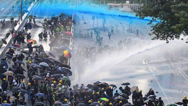组图2:9.15反送中港警施暴 袭击记者抓捕议员