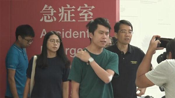 香港立法会议员邝俊宇遇袭 现场视频曝光