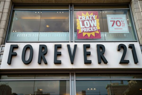 Forever 21申請破產 將關閉歐亞大部分門市