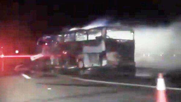 沙特巴士车祸爆炸酿35死4伤 有亚洲籍乘客(视频)