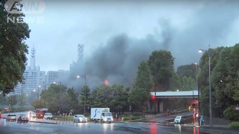 日王居附近拖车起火 影响德仁即位庆典活动