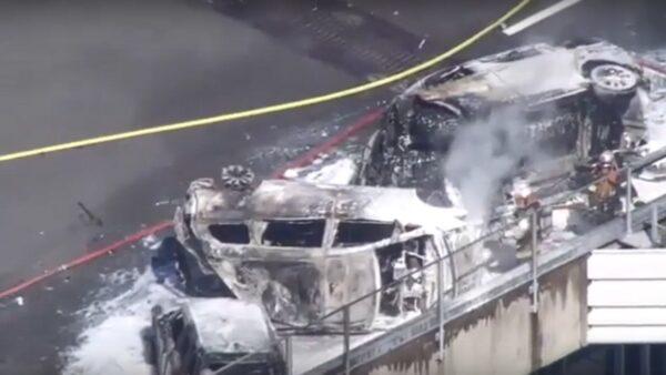 日本愛知連環車禍 引爆3車大火15人傷