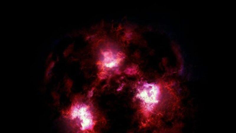 科學家發現125億年前星系 如「宇宙雪人」