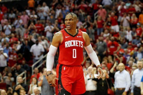 NBA生涯139次大三元 威少跃居史上第二