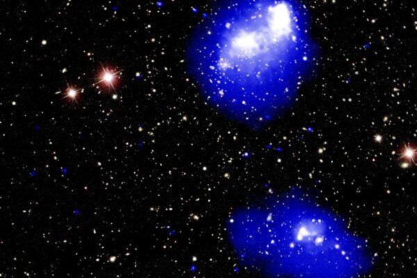 4个星系团罕见碰撞 将合并成庞大天体