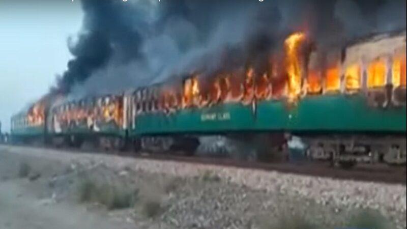 巴国列车瓦斯罐爆炸 猛火烧3车厢酿10死15伤