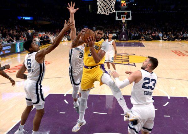 NBA戴維斯3節豪取40分20籃板 率湖人扳倒灰熊