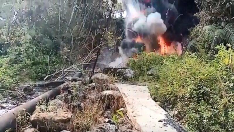 哥伦比亚输油管线遇袭 原油染黑邻近河流