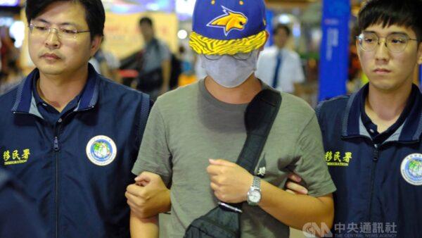 陸男撕反送中連儂牆 遭台灣政府強制出境