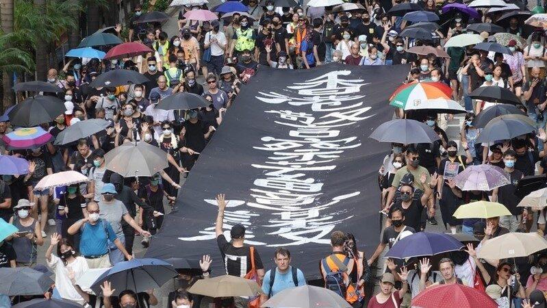 【直播回放】港府颁布《禁蒙面法》 10.5港人不畏强权再聚集