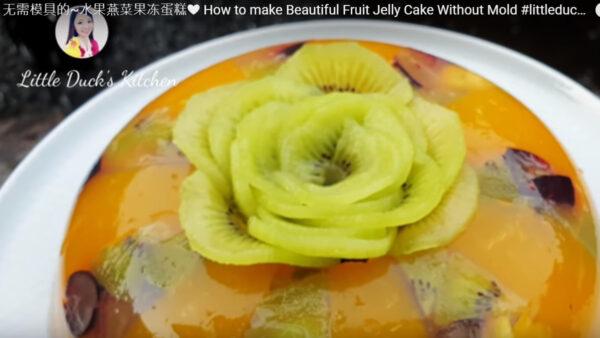 水果燕菜果凍蛋糕 做法簡單無需模具(視頻)