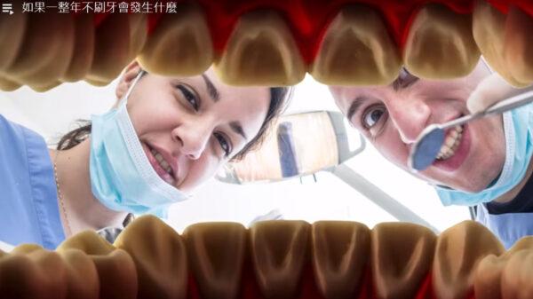 如果一整年不刷牙 你的牙齿会怎样(视频)