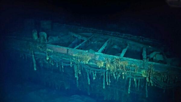 水下機器人發現二戰日本戰艦殘骸