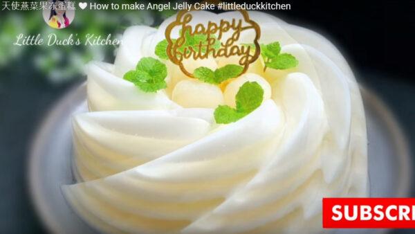 天使燕菜果冻蛋糕(视频)