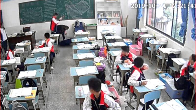 15歲四川男生用磚狠砸老師 10秒內猛擊9次
