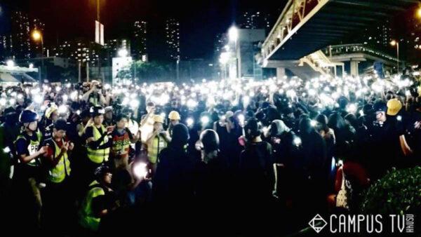 重磅:香港多区示威者宣读《临时政府宣言》