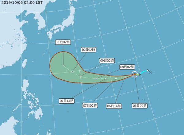 台风海贝思朝日本南方行进 对台无直接影响
