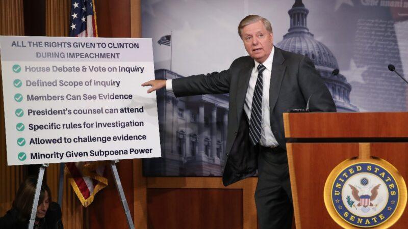 """议员怒斥弹劾调查为""""非法流氓行动"""" 美参院共和党提案谴责"""