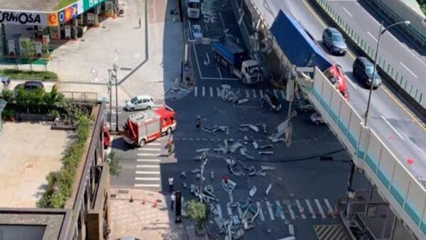 台64線貨櫃車撞護欄 駕駛當場身亡