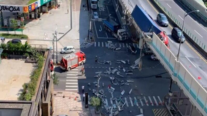 台64线货柜车撞护栏 驾驶当场身亡