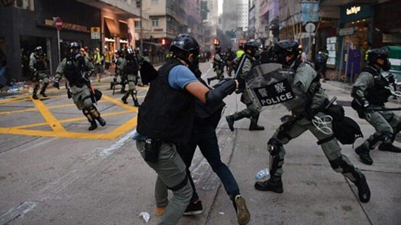 乔装港警恐袭示威者 中共刑警国安手段凶残露馅