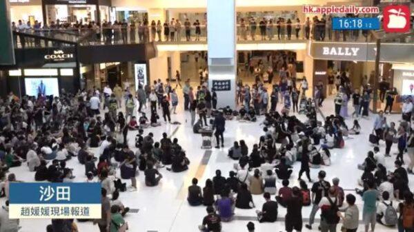 「18區開花」 港人戴口罩商場集會抗爭(視頻)