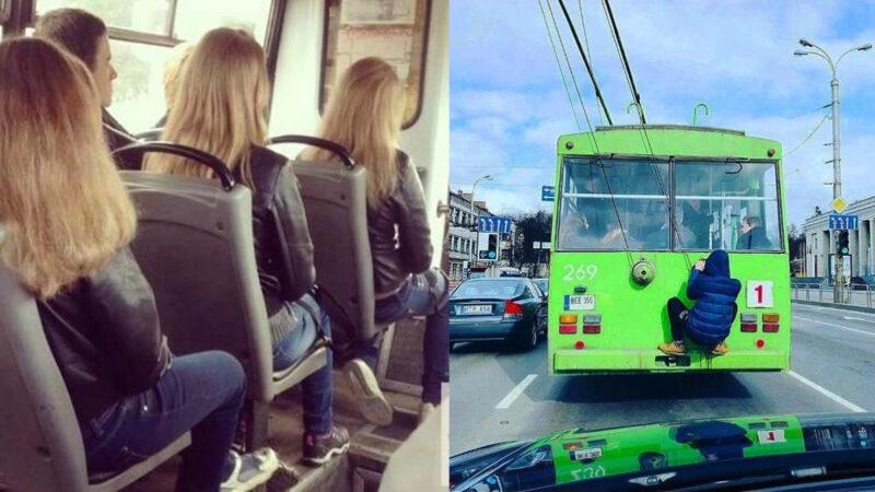 趣味IG照片:立陶宛无轨电车上的新鲜事