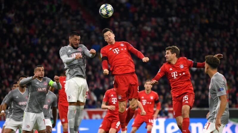 大巴黎、拜仁和尤文提前两轮晋级欧冠16强