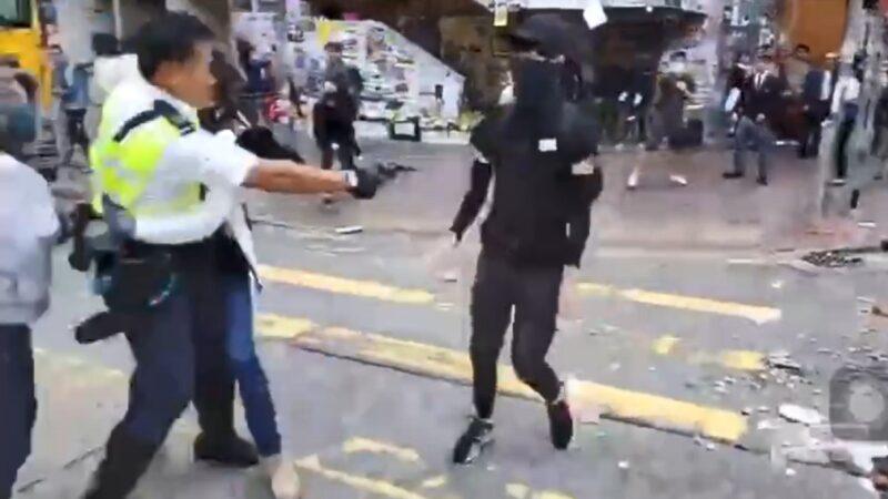 港警真枪实弹袭民 中枪青年切右肾命危(视频)