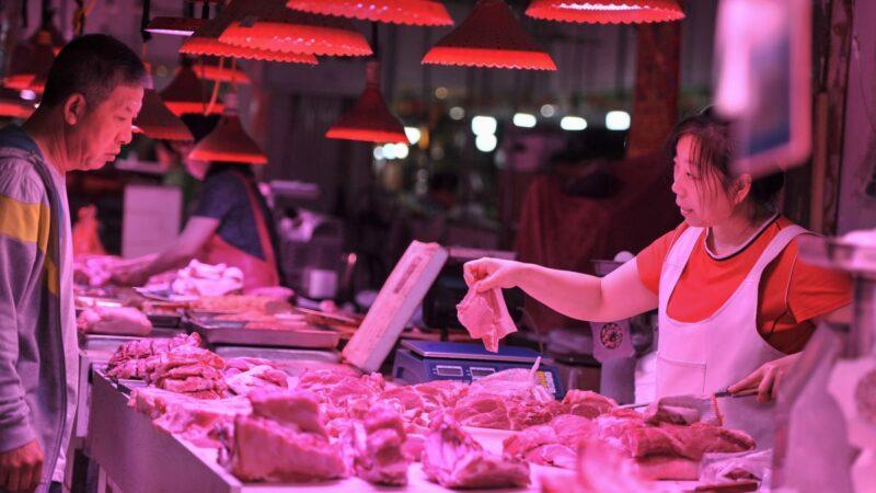 大陸10月CPI同比上漲3.8% 豬肉價漲101.3%