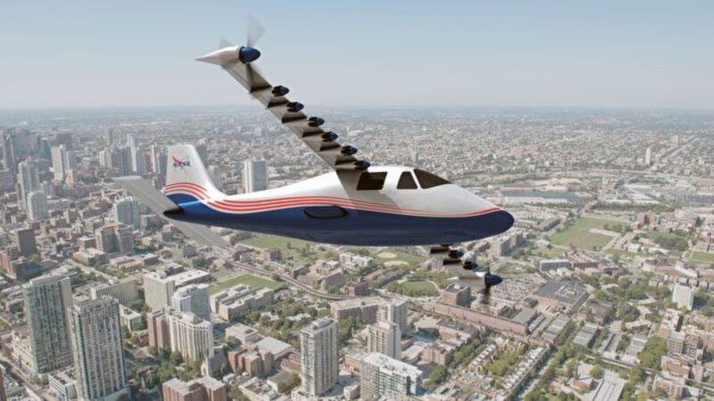 NASA展示首架全電動飛機