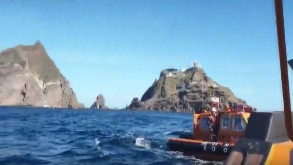 韩载7人消防直升机坠独岛外海 寻获5遗体