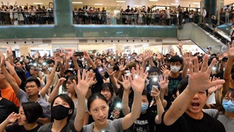 【直播回放】美国通过《香港人权与民主法案》感恩节香港各区反极权集会