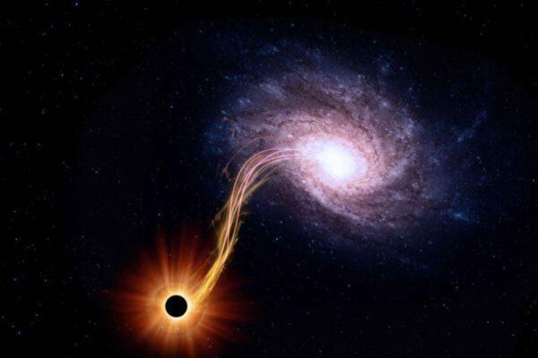 银河系中心黑洞以超高速抛出一颗恒星